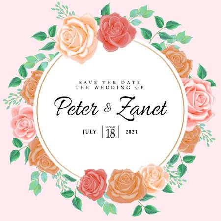 beautiful wedding event invitation card editable template Illustration