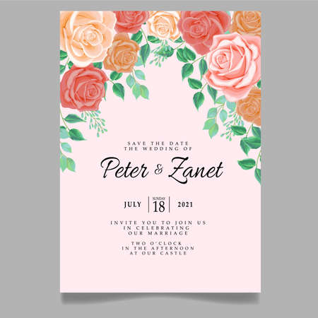 beautiful wedding event invitation card editable template Standard-Bild - 154590089