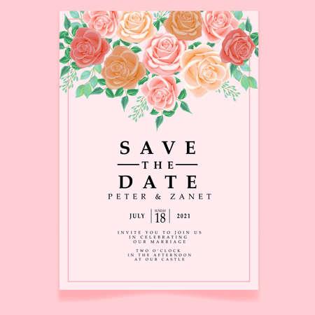 beautiful wedding event invitation card editable template Standard-Bild - 154590090
