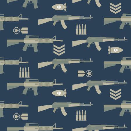 cute gun cartoon seamless pattern print surface design illustration