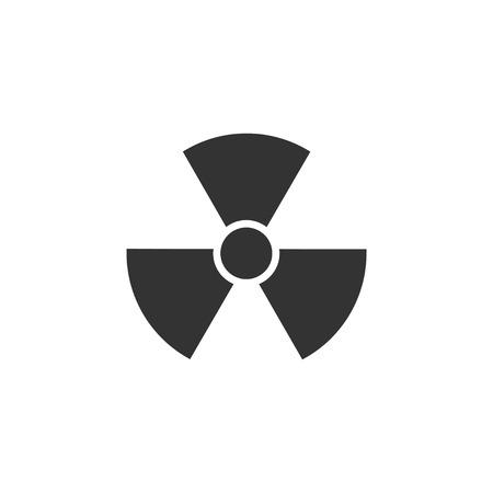Radiation. Black Icon Flat on white background Imagens - 110177552