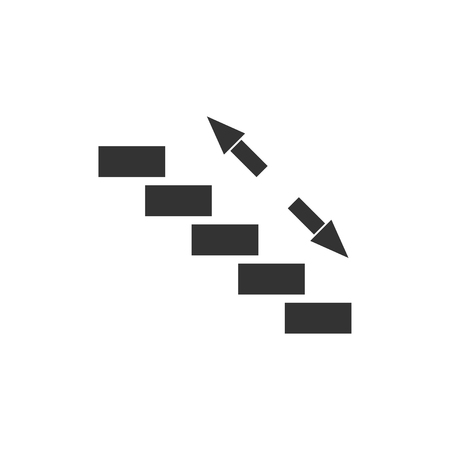 Stairs. Black Icon Flat on white background