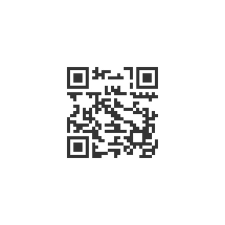 Qr code. Black Icon Flat on white background