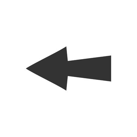 Arrow. Black Icon Flat on white background