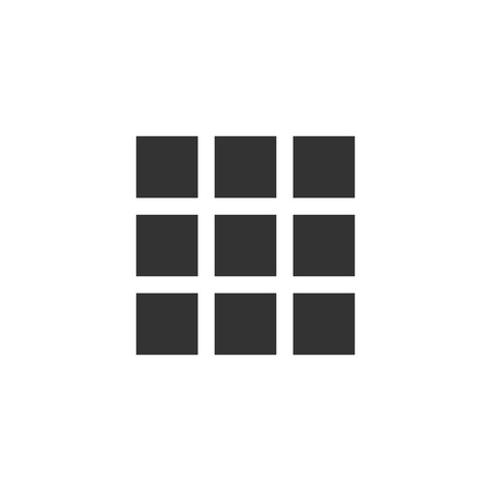 Building block. Black Icon Flat on white background