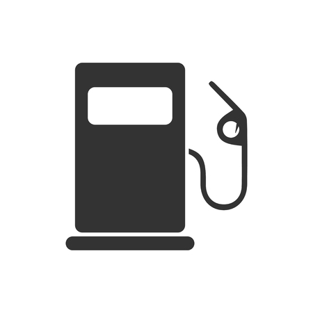 Gas station. Black Icon Flat on white background