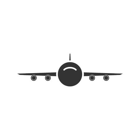 Aircraft. Black Icon Flat on white background