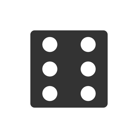 Dice. Black Icon Flat on white background