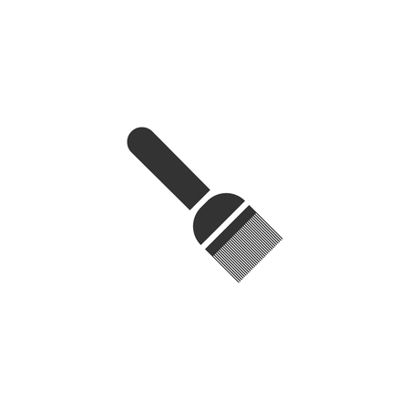 Putty knife. Black Icon Flat on white background Иллюстрация