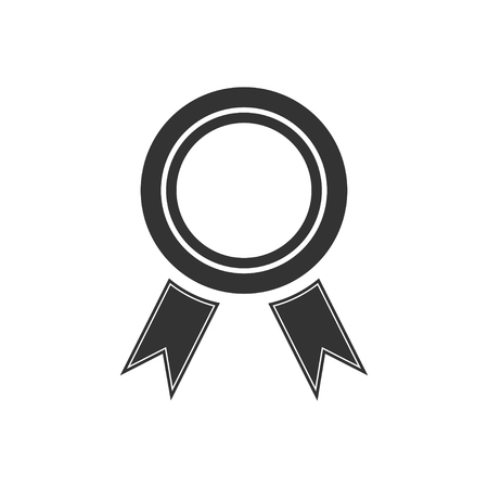 Award. Black Icon Flat on white background