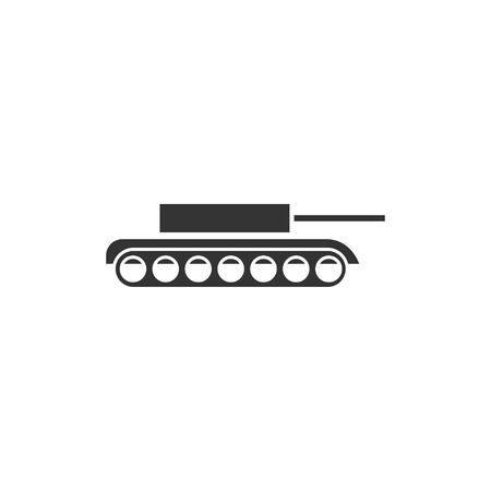 Tank. Black Icon Flat on white background