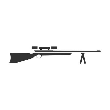 Weapon. Black Icon Flat on white background