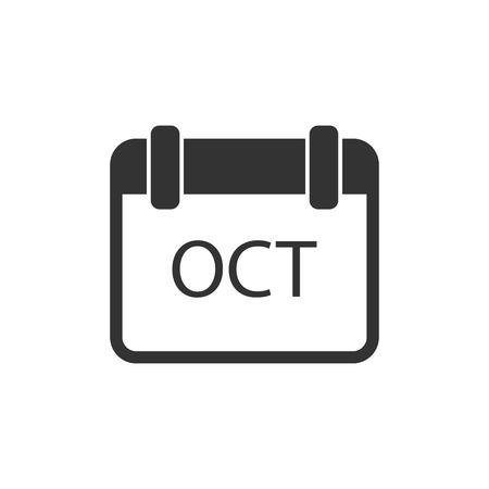 Calendar. Black Icon Flat on white background