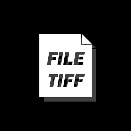 TIFF file. White flat simple icon with shadow Illustration