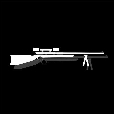 Weapon. White flat simple icon with shadow