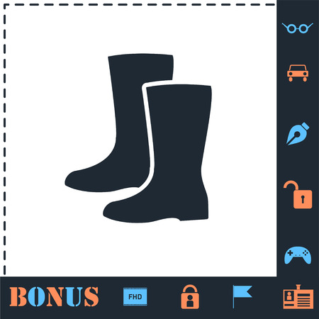 Waterproof shoes. Perfect icon with bonus simple icons Illustration