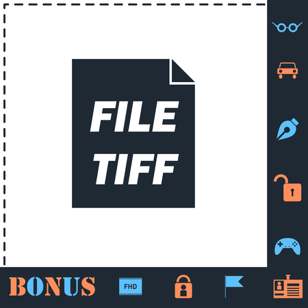 TIFF file. Perfect icon with bonus simple icons Illustration