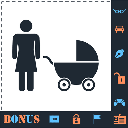 Maternity. Perfect icon with bonus simple icons