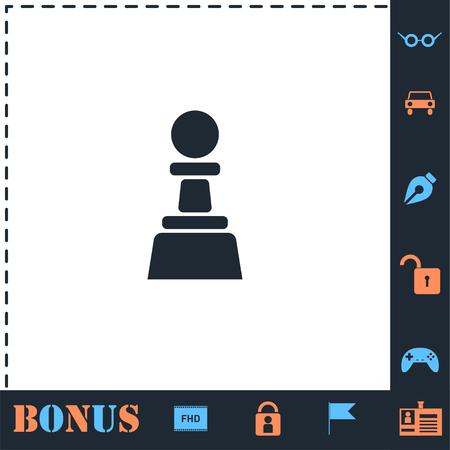 Chess. Perfect icon with bonus simple icons