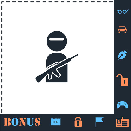 Raider. Perfect icon with bonus simple icons