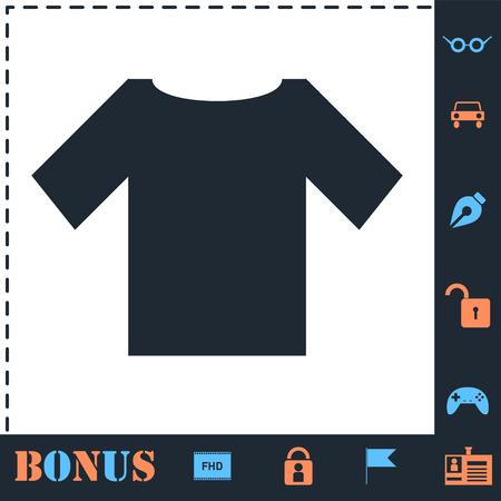 Tshirt. Perfect icon with bonus simple icons