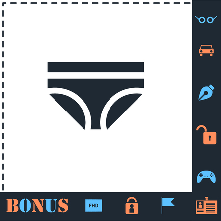 Underwear. Perfect icon with bonus simple icons Banque d'images - 124047005
