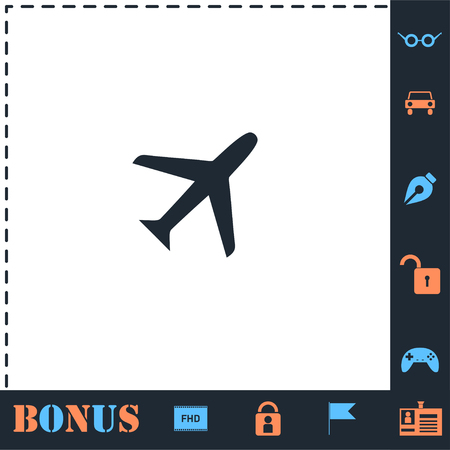 Airplanes. Perfect icon with bonus simple icons