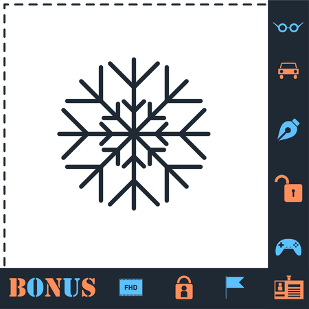 Snowflake. Perfect icon with bonus simple icons