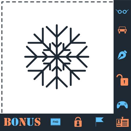 Snowflake. Perfect icon with bonus simple icons