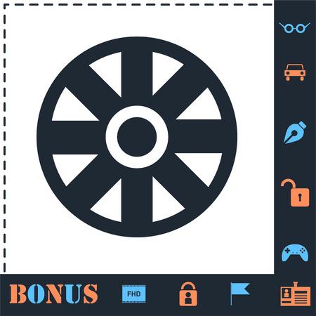 Cart Wheel. Perfect icon with bonus simple icons