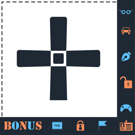 Halloween Grave Cross. Perfect icon with bonus simple icons