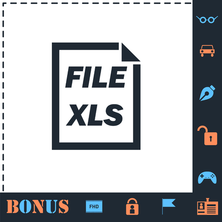 XLS File. Perfect icon with bonus simple icons