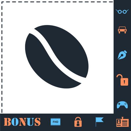 Coffee Bean. Perfect icon with bonus simple icons