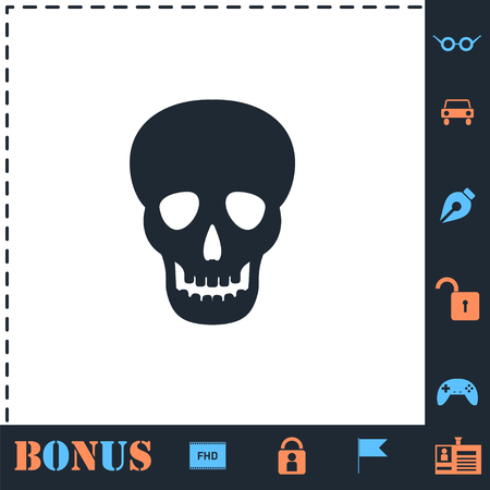 Skull. Perfect icon with bonus simple icons