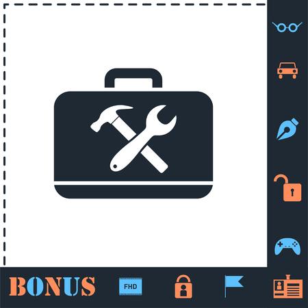 Toolbox. Perfect icon with bonus simple icons Illustration
