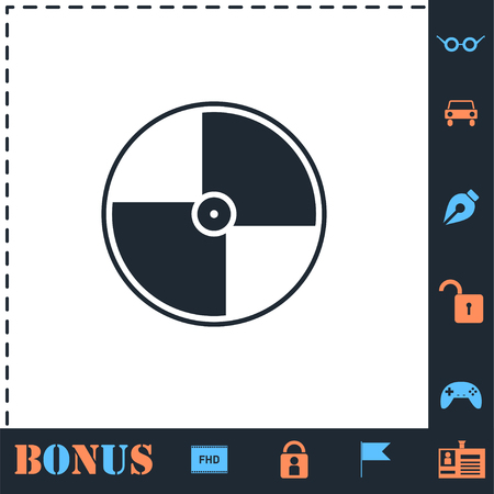 Disc. Perfect icon with bonus simple icons