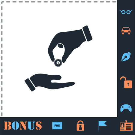 Financial Aid. Perfect icon with bonus simple icons Illustration