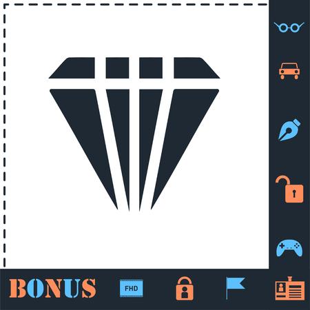Diamond. Perfect icon with bonus simple icons