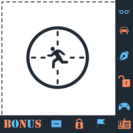 Crosshair. Perfect icon with bonus simple icons