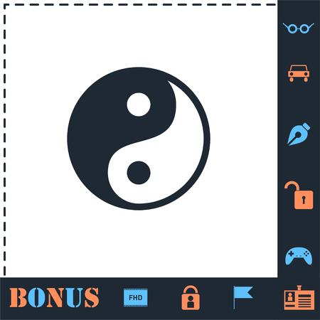 Yin Yang. Perfect icon with bonus simple icons