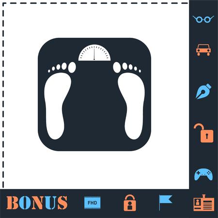 Scales. Perfect icon with bonus simple icons