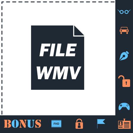 WMV. Perfect icon with bonus simple icons