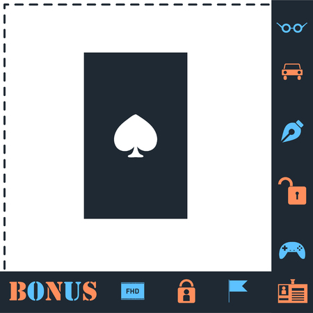 Playing card. Perfect icon with bonus simple icons