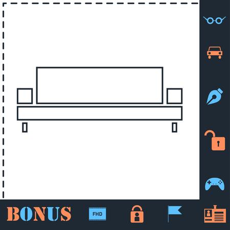 Sofa. Perfect icon with bonus simple icons