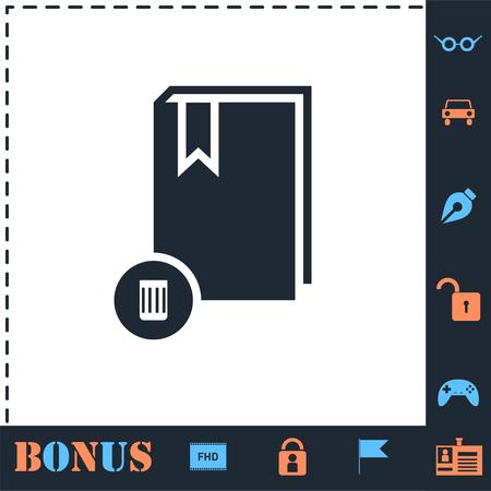 Book. Perfect icon with bonus simple icons Illustration