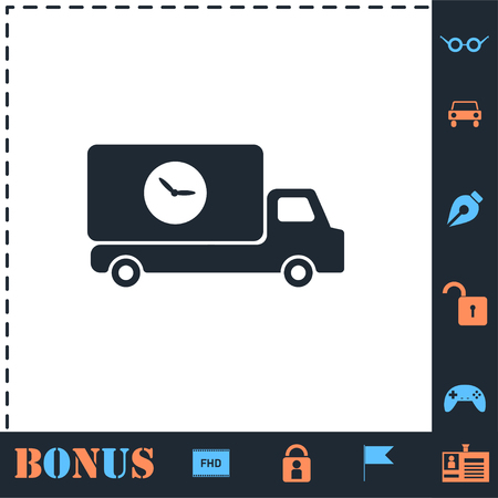 Delivery time. Perfect icon with bonus simple icons