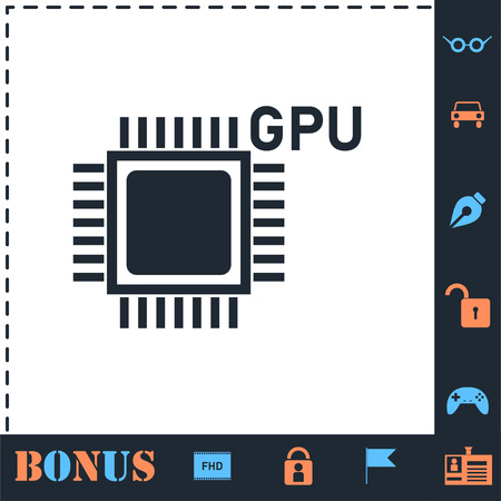 Gpu. Perfect icon with bonus simple icons