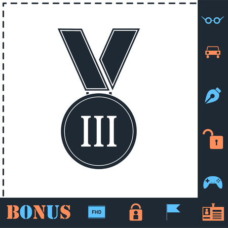 Medal. Perfect icon with bonus simple icons