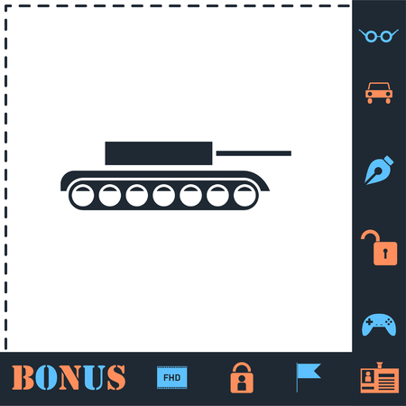 Tank. Perfect icon with bonus simple icons