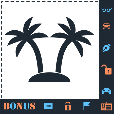 Palms. Perfect icon with bonus simple icons